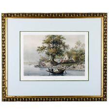 Auguste-Nicolas Vaillant - Vue prise sur les bords de l'Hougly, Inde Lithograph