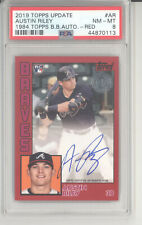 Austin Riley auto card /25 2019 Topps Update 1984 Topps 35th red RC PSA 8 Braves