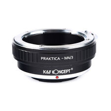 K&F Concept Lens Mount Adapter for Praktica to Micro M4/3 Lens Camera Body G2 G5