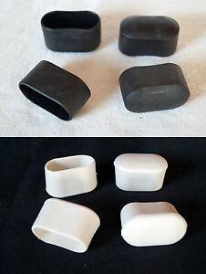 Lot de 4 Embouts Protection Pieds 38 X 20mm Noir/Blanc pour Chaise Capuchons