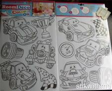Cars Racing You Color Peel & Stick Removable Wall Stickers Home Décor New