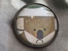 """Charley Harper Cute Koala Bear Australia 1"""" Sewing Button Charles CH302"""
