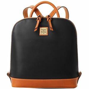 Dooney & Bourke Wexford Leather Zip Pod Backpack Black NWT
