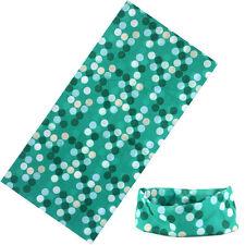 sciarpa bandana tubolare tipo  moto softair microfibra pois verdi UNISEX