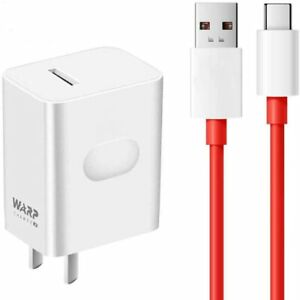 Official OnePlus 30W Warp Charger and Type C Cable for 3/3T/5/5T/6/6T