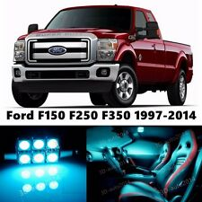 11pcs LED ICE Blue Light Interior Package Kit for Ford F150 F250 F350 1997-2014