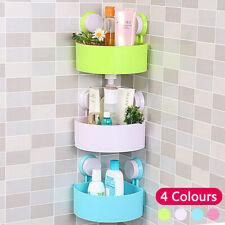 Perfect Bathroom Suction Corner Storage Shower Rack Shelf Organiser Basket Tidy