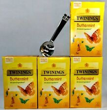 TWININGS Tè buttermint 4 scatole, 80 TEABAGS con acciaio inossidabile teabag SQUEEZER