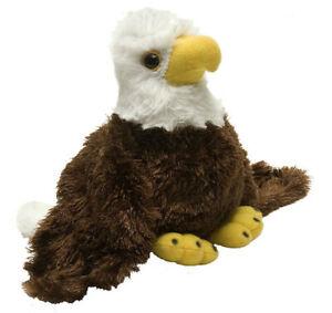 "Hug'ems Bald Eagle Bird Hugems soft plush toy 6""/15cm Wild Republic NEW"