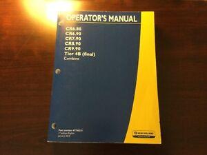 New Holland CR6.80 CR6.90 CR7.90 CR8.90 CR9.90 Combine Operator's Manual