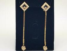Chopard Happy Diamonds Square Dangling Earrings 18k Yellow Gold