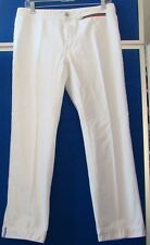 EUC Beautiful WHITE Denim JEANS by TOMMY HILFIGER Ankle Length Sz 8 w. 1 pocket