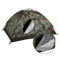 Tienda de túnel camuflaje 2 personas carpa dos hombre carpa carpa camping Verde oliva Camuflaje