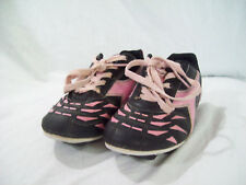 Diadora Girls Black Pink Athletic Soccer Cleats Shoes sz 1