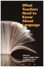 What Teachers Need to Know About Language (Language in Education)