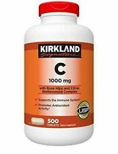 Kirkland Signature Vitamin C 1000mg with Rose Hips  500 ct  exp 2021 and later