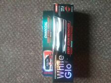White Glo Charcoal Deep Stain Remover Whitening Toothpaste 150g + toothpaste