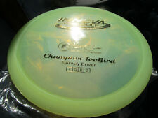 12X TeeBird Pearl Green Champion Dome Top Ken Climo Gold stamp Golf Disc