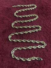 Yellow Gold 20 Inches Rope Chain 4 mm  Shinny