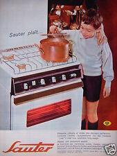 PUBLICITÉ 1964 CUISINIERE SAUTER PLAIT ÉLÉGANTE ROBUSTE - ADVERTISING