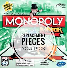 Monopoly Jr. Replacement Pieces Various Years- Individual and Sets - You Choose
