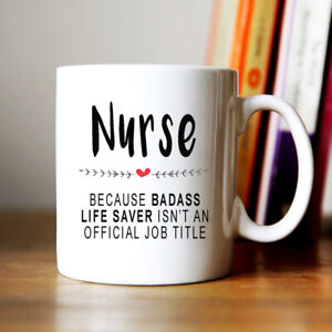 Nurse Funny Quote Printed Coffee Tea Mug Cup Ideal Gift For Birthday Present