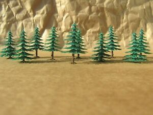 10 Classic FIR (PINE) TREES ~ RETIRED by ATLAS ~ Mayhayred Trains N Scale Lot