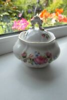 Royal Albert Moss Rose Powder Bowl Bone China 1st Quality Vintage British