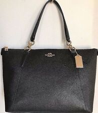 NWT Coach 57526 AVA Tote Crossgrain Leather handbag Black