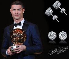 529d8a586d03 Para Hombre Niño  Ronaldo 18 CT Oro Blanco Cubic Zirconia 8 mm Corona de  Cristal.