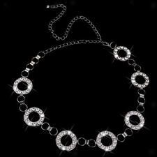 Sexi Cintura Strass Donna Catena Corpa Diamanti Cristallo Per Vita 65-100cm
