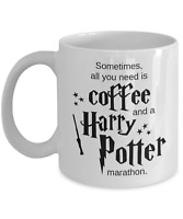 Harry Potter Marathon Coffee Mug, Funny Harry Potter Mug, Harry Potter Fan Gift