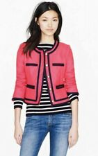 J.CREW LADY Jacket BERRY & Navy Double SERGE WOOL blazer Lined! SIZED:4P $258!