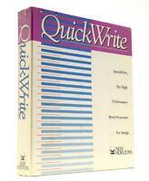 "Brand New! AMIGA ""QUICKWRITE"" Word Processor Software FACTORY SEALED New Horizon"