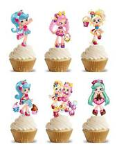 26 SHOPKINS SHOPPIES Edible Cup Fairy Cake Toppers Party Premium Wafer STAND UP