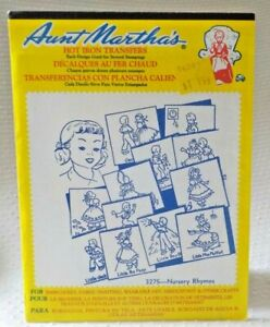 Aunt Martha's Hot Iron On Transfers - 3275 NURSERY RHYMES 12 designs MADE IN USA