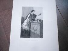 GRANDE GRAVURE 1890 DE LUCIEN BONAPARTE
