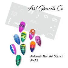 Nail Art Airbrush Stencil for Fun Prints ANA5