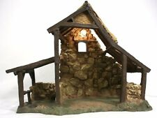 "Lighted Stable #50154BX for 5"" Fontanini Heirloom Nativities ©1996 Roman (RARE)"