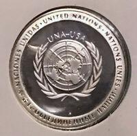 1971 UNITED NATIONS Silver Proof Medal & Stamp SET UNIVERSAL POSTAL UNION i65216