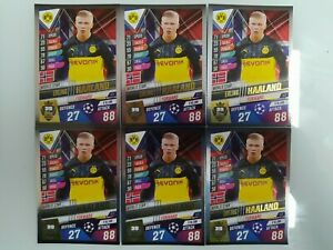 TOPPS CHAMPIONS LEAGUE 19/20 ERLING HAALAND ROOKIE CARDS WORLD STAR LOT OF 6