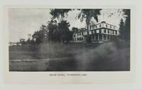 Postcard Grove Hotel Thompson's Lake New York