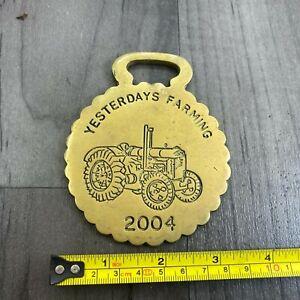Authentic Vintage Brass Plaque SSAPC Yesterdays Farming Show 2004 Rare