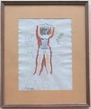 Original vintage rare art Pencil on paper!Pablo Picasso hand signed-framed! #1