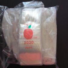 "Baggies 2020 size  Apple Brand  2""x2"" Bags Ziplock Liquidation Sale !!  (1,000)"