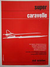 1964-1965 PUB SUD AVIATION SUPER CARAVELLE AIRLINER ORIGINAL GERMAN AD