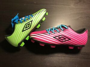 UMBRO Kids Arturo 2.0 FG Soccer Cleats NEW! Youth Pink or Green