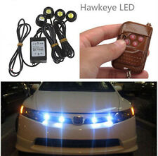 4in1 Kit 12V Hawkeye LED Car Emergency Strobe Lights Wireless Remote Control KY
