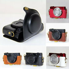 Leather Hard Camera Case Bag Covers Grip Strap For Sony DSC-HX90V HX90 WX500 New
