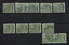 Berlin 47 Plattenfehler I-II und IV-X, komplett, gestempelt (B05614)